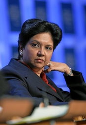 Indra K. Nooyi, Chairman and Chief Executive Officer, PepsiCo ; co-Chair of the World Economic Forum Annual Meeting 2008, captured during the session 'Corporate Global Citizenship in the 21st Century' at the Annual Meeting 2008 of the World Economic Forum