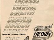 By June of 1948 Sanders Aviation Company had taken over sales and marketing of the Ercoupe. The manufacturing was still done by ERCO. This 2/3rd page ad appeared on page 69 of the June 1948 issue of Flying magazine.