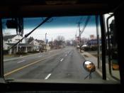 Franklin Turnpike in Waldwick, New Jersey, as seen from the school bus