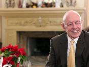 Professor Stephen Covey in his home