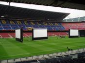 Event in Camp Nou Stadium in Barcelona with four inflatable AIRSCREEN´s.