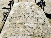 Barbey d'Aurevilly is buried alongside the castle of Saint-Sauveur-le-Vicomte.