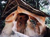 A shrine in the Osun-Osogbo Sacred Grove, in Osogbo, Osun state , Nigeria
