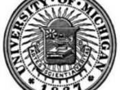English: Seal of the University of Michigan, with founding date as 1837