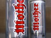 English: Cans of the former formulation of Mother, an energy drink produced by Coca-Cola Amatil in Australia.