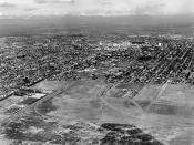Aerial view of Spartan Stadium.