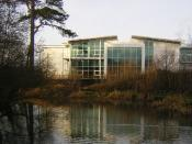English: Offices for Software & Internet Companies, Parc Menai. This view is typical of Parc Menai, Bangor. Modern offices in former parkland attract software and internet businesses.