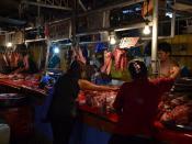 Baboi (pork) on sale in Quinta Market