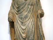 Buddha statue from the Gandhara-culture (1st century, Pakistan) Español: Gandhara, siglo I.