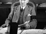 Chancellor von Papen making an address to American radio