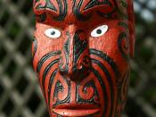 Māori statue in Rotorua, New Zealand