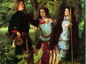 The Mock Marriage of Orlando and Rosalind (from As you like it, by William Shakespeare) by Walter Howell Deverell.