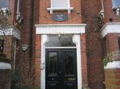Orwell's former home at 77 Parliament Hill, Hampstead