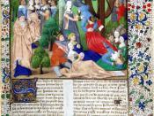From an edition of Boccaccio's De Casibus Virorum Illustrium showing Lady Fortune spinning her wheel.