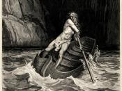Gustave Doré's illustration to Dante's Inferno. Plate IX: Canto III: Arrival of Charon.