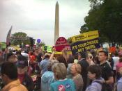 Photo from the 2004 March for Women's Lives, taken by me