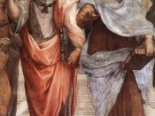 Detail of The School of Athens by Raffaello Sanzio, 1509, showing Plato (left) and Aristotle (right)