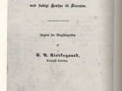 The cover page to Søren Kierkegaard's university thesis.