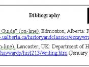 English: Example of a bibliography
