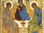 Andrei Rublev's Trinity, representing the Father, Son and Holy Spirit in a similar manner.