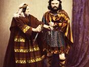 The English actor Charles Kean as William Shakespeare's Macbeth (1858).