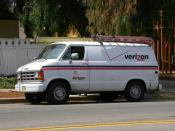 1980s Dodge Ram Van Verizon