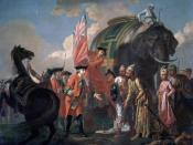 Robert Clive, 1st Baron Clive of Plassey, meeting with Mir Jafar after Plassey, by Francis Hayman.