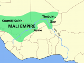 The Mali Empire at its height under Mansa Musa.