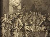 The Israelites Eat the Passover (illustration from the 1728 Figures de la Bible)