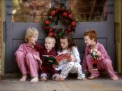 English: Four children reading the book How the Grinch Stole Christmas! by Dr. Seuss.