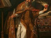 Saint Augustine of Hippo, a seminal thinker on the concept of just war