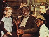 Clockwise from left: Ginny (Luana Patten), Uncle Remus (James Baskett), Johnny (Bobby Driscoll) and Toby (Glenn Leedy)