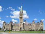 The Centre Block on Parliament Hill, containing the houses of the Canadian parliament