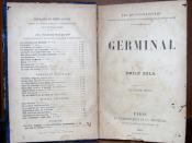 This is image from old book GERMINAL (original printed 1885)by EMILE ZOLA that has been more than 70 years old