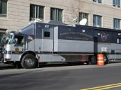English: FBI Mobile Command Center in Washington DC.