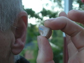 Hearing aid, photo taken in Sweden
