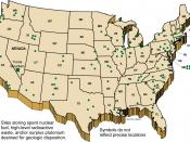 The current locations across the U.S. where nuclear waste is stored