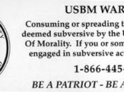 The United States Bureau of Morality sticker found on the back of Year Zero.