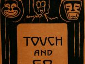 English: 1st Edition cover of Touch and Go by D.H. Lawrence.