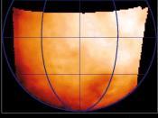 False color temperature map of Ganymede