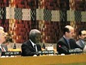 UN Secretary General Kofi Annan addressing the 6th session of the UN ICT Task Force in New York, March 25, 2004.