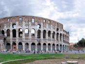 Colosseum and Arch of Constantine - panoramic view outside