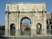 Rome, Arch of Constantine, by Alexander Z., 2005-01-06 Deutsch: Konstantinsbogen in Rom, von der Via Triumphalis aus aufgenommen