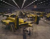 English: Assembling B-25 bombers at North American Aviation, Kansas City, Kansas.