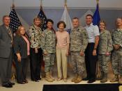 Former First Lady visits Guard leadership, seeks partnership to help warrior caregivers