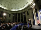 English: George W. Bush at Manhattan Institute sponsored speech at Federal Hall on November 13, 2008 Licensing: Category:George W. Bush