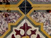 Floor tile in Karpas, northeastern Cyprus.