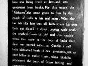 taken @ the Gandhi museum in Madurai, Tamil Nadu, India. Written by the Bengali poet Rabindranath Tagore.