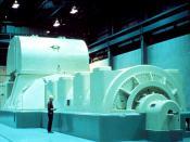 English: NRC Image of Modern Steam Driven Turbine Generator