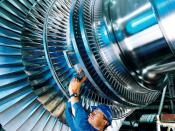 English: Steam turbine rotor produced by Siemens, Germany